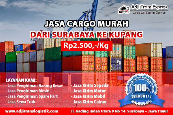 cargo murah surabaya kupang