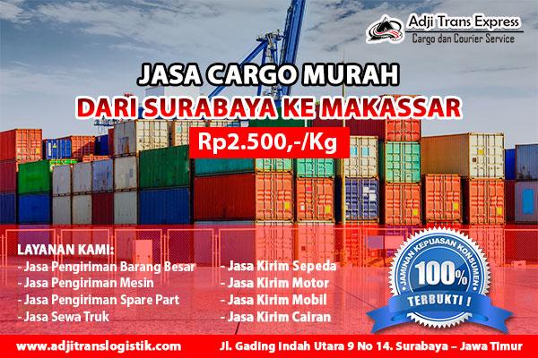 cargo murah surabaya makassar